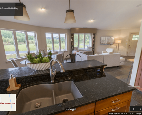 Google Business View of energy efficient home in Asheville, NC.